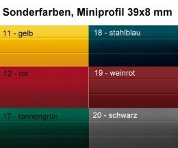 ALU Rolladen Vorbauelement eckig mit ALU-Minipanzer Sonderfarben