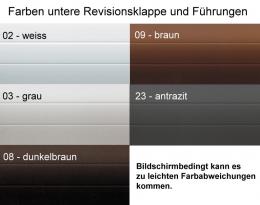 ALU Vorbauelement UP-Version mit intergr. Fliegengitter Rollo