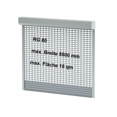 ALU Sicherheits Rollgitter 80x18,5mm für Flächen bis 15 qm
