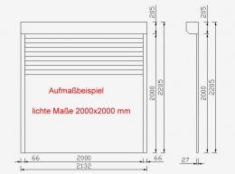 ALU-Rolltor, Profil 52x13 mm