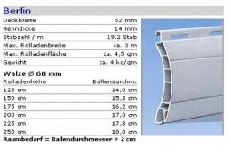 PVC Rolladenpanzer Berlin 52x14 mm fertig konfektioniert