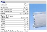 PVC Rolladenpanzer Pico 37x8,3 mm fertig konfektioniert