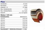 PVC Rolladenpanzer Pico 37x8,3 mm Sonderfarben fertig konfektioniert